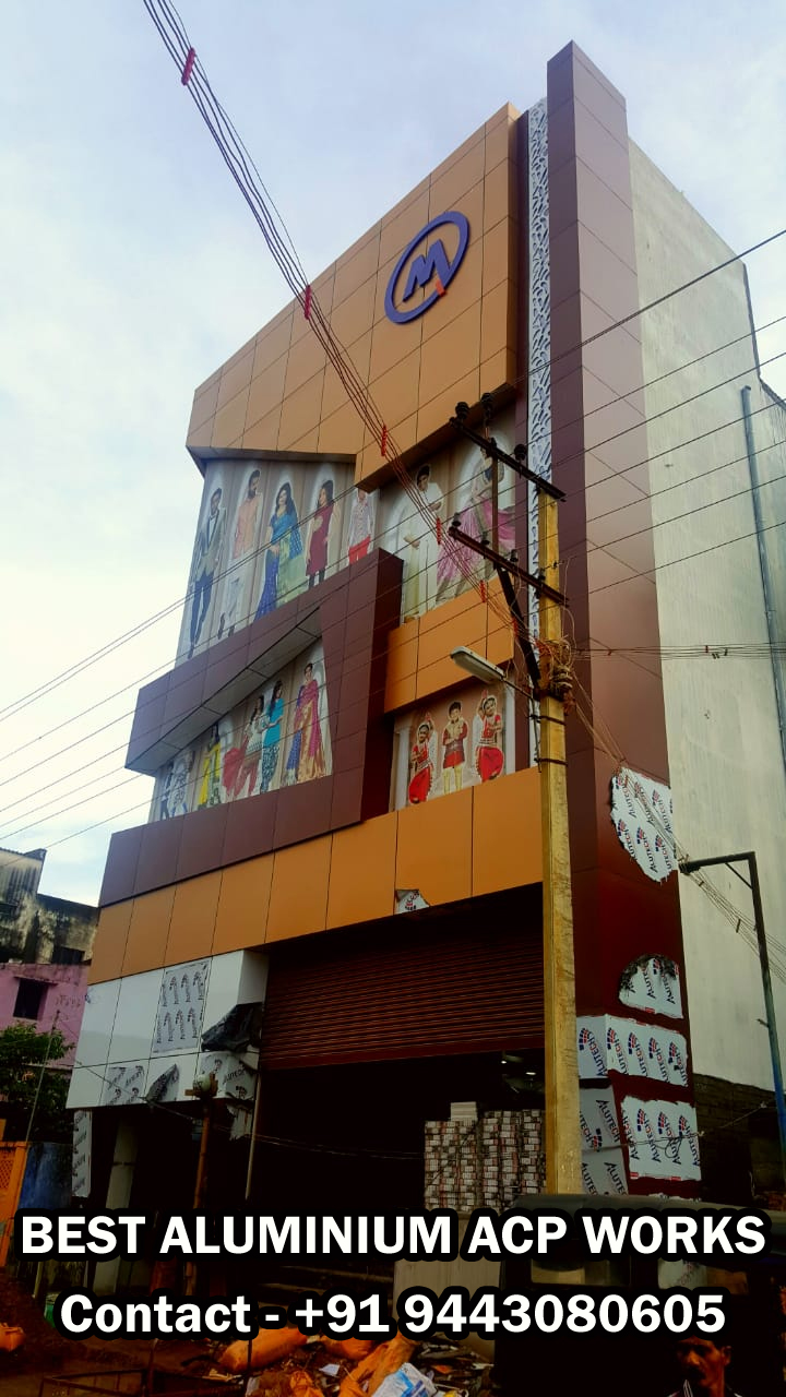 Aluminium Composite panel(ACP)Works in Tirunelveli,Aluminium Fabricators
